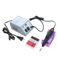 nail drill machine - Professional Electric Nail Drill Manicure Machine with Drill Bits V US Plug H4663US