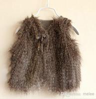 Unsex baby girl vest - Girls Warm Leopard Waistcoat Vests Kids SleevelessOutwear Fall Winter Baby Kids Clothing Waistcoats Winter Casual Fur Vest coats Jackets