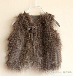 Wholesale Girls Warm Leopard Waistcoat Vests Kids SleevelessOutwear Fall Winter Baby Kids Clothing Waistcoats Winter Casual Fur Vest coats Jackets