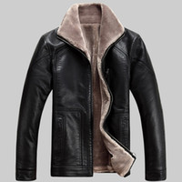 china coats - 2014 new winter dress men s leather jacket thicken coat PU jacket short jacket suede coat high quality made in china