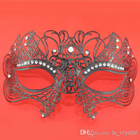Wholesale Beauty Laser Cut Venetian Mask With Rhinestones Christmas Gift Party Face Mask Masquerade Ball Supplies SD292