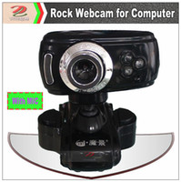 Wholesale MOQ low cost Chinese OEM USB Rock webcam for computer computer digital camera with built in microphone LED