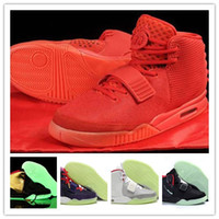 Wholesale Fashion Trainers Kanye West Air Yeezys II Men Basketball Shoes Sport Footwear Sneakers Trainers Shoes Size