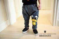 elastic cord - 2014 New High Quality Fashion Korean Style Boys Harem Denim Trousers Spring Autumn Elastic Cord Handsome Prince Long Jeans