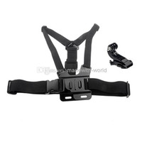 Wholesale New Gopro Chest Mount Harness For HD Hero Hero2 Hero3 Chesty Go Pro Strap ST J Hook Mount Gopro Accessories W0065A