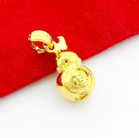 Cheap Wholesale Price Elegant 24K Gold Plated Chinese Blessing Women's Men's Pendant Fashion Wedding Costume Jewelry Z012