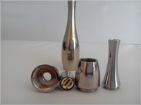 ceramic flower vase - Stainless steel wax oil vaporizer orb source dual ceramic rod coil atomizer replacement coil head vase flower cannon bowling e cig atomizer