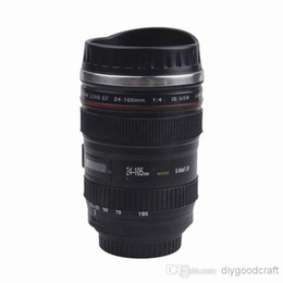 Wholesale 400ML Camera Lens Cup Black Coffee Tea Travel Mugs Stainless Steel Thermos ZWW2
