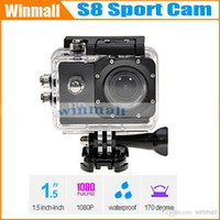 "Cheap 2014 China Hot sell item 30M Waterproof Helmet Sport Camera Mini DV Sj4000 Style S8 Action Camera Diving 30 fps (H.264) 1080P 1.5"" LCD"