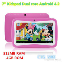 Wholesale Kids Education Tablet PC inch RK3026 Dual core Android Bluetooth MB RAM GB ROM Kids Games Apps mini tablet Best gifts for kids
