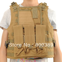Wholesale Wholessale Outdoor Tactical Vests Cycling Military Special Ttroop and Amphibian CS Molle Vest Green Khaki Black