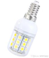 Wholesale E14 W SMD5050 SMD LED Light Bulb Corn Light White Warm White lighting V LED Lamp bulbs LY
