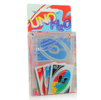 Wholesale Transparent Waterproof UNO H2O Card Game Playing Card English version Family Fun Plastic Poker