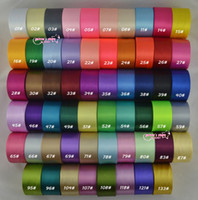 Wholesale quot mm single face satin ribbon yards roll polyester ribbon more colors