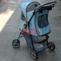 Cheap Folding pet dog and cat cart The cat and dog wagon dog and cat baby-sitter car out portable teddy schnauzer