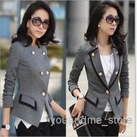 Wholesale 2016 Autumn Fashion Suit Coats Women s Suit Blouse Vestidos Long Sleeve Blazers Coat Jackets Casual Plus Size Slim OL Suit Coat Clothes W20