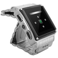 Wholesale New quot GSM Stainless Steel Wrist Watch Phone Quad Band MTK6253 Mobile Waterproof and Dustproof Support Camera Bluetooth GPRS