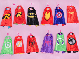 Wholesale DHL free hot kids superman cape superhero cape boys girls costume children halloween party costumes kids shawl set and cloaks J081801