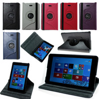 Wholesale PU cover Leather rotating Case For Dell Venue PRO win Tablet quot