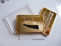 Wholesale Promotions One Ounce Gold Clad Titanic Bullion Bar th Anniversary of the Titanic