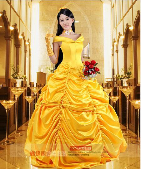 Wholesale NUEVO Anime La Bella y la Bestia Belle vestido de la ...
