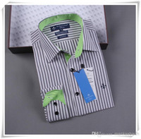 Cheap HOTwholesale Imported Clothing Brazil Dudalina Men's Business Dress Slim fit shirt Camisa masculina Striped Shirts for Men Male Freeshipping
