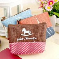 Cheap Cotton Linen Coin purse Japan spot mini Wallets card holder Handbag Key pouch Storage bag case organizer School supplies 6308