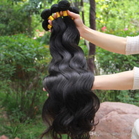 Wholesale hair extensions brazilian hair weave human hair weaves body wave inch natural color human hair extensions DHL