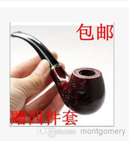 Cheap Hot beginner entry-level wood carved pipe Smoking (buy one get four briar)