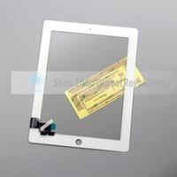 achat en gros de écrans tactiles à vendre-Hot Sale pour iPad 2 Digitizer à écran tactile noir + couleur blanche avec prix d'usine autocollant gratuit
