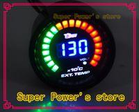 Wholesale Black quot mm Car Motor Digital LED EGT Exhaust Gas Temperature Gauge Auto Car Styling EGT Gauge