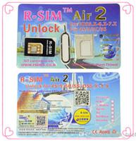 Wholesale 2014 New Arrive Original R SIM Air2 Unlock Card IOS x x R Sim RSIM Air Unlock for iPhone C S good quality dhl