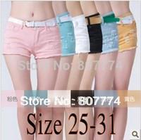 Women Zipper Fly Acetate Size 25-31 Wholesale Freeshipping 2014 women white summer denim short Ripped hot Clubwear short pants Beach Jeans shorts #2002