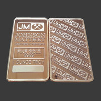Wholesale Non Magnetic OUNCE TROY FINE SILVER JM JOHNSON MATTHEY BAR IN PLASTIC CASES ACCEPT LASER NUMBER
