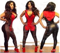 Recensioni Tute delle donne-Alta Moda, Donne Di Tute Le Tutine Cappuccio Vestito Sexy Stretto Siamese Pantaloni Garza Pezzo Pantaloni Donna Top+Pantalone Imposta M1187