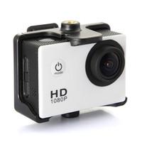 Wholesale Car Action Camera Full HD DVR Sport DV SJ4000 P Helmet Waterproof Camera inch G Senor Motor Mini DV Wide Angle
