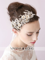 Cheap 2015 New In Stock Vintage Bride Hair Band Sparkling Crystals Flowers Rhinestones Wedding Tiaras & Hair Accessories Bride Jewelry Accessories