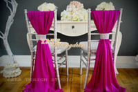 Wholesale Beautiful Chiffon Ruffles Chair Sash Pieces Set Wedding Decorations Anniversary Party Banquet Accessory
