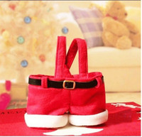 Wholesale 2014 Hot Selling Cheap Santa Pants Style Christmas Gift Bags Red Candy Bag Cm Handbag New Year Items