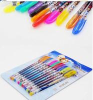 Wholesale frozen Children Cartoon color Ballpoint Pen FROZEN ELSA ANNA Pen Student Gift Office Stationery Xmas gift