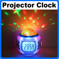 Wholesale Amazing Flashing Music Starry Star Sky Projector With Alarm Clock Calendar Thermometer Holiday LED Light