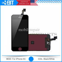Cheap Wholesale - AAA Quality LCD Display & Touch Screen Digitizer Full Assembly for iPhone 5S 5c Replacement Repair Parts Free DHL Shipping