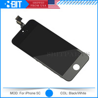 Cheap Wholesale - Top Quality For iPhone 5S 5C Full Original LCD Display Touch Screen Digitizer with Frame Full Set Assembly Replacement Free DHL