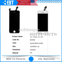 Cheap Wholesale - Black White LCD Display & Touch Screen Digitizer Full Assembly for iPhone 5S 5C Replacement Repair Parts Free DHL shiping