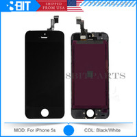 For Apple iPhone LCD Screen Panels Black/White LCD Display Touch Screen Digitizer Full Assembly for iPhone 5S Original LCD Replacement Repair Parts & Free Shipping 3