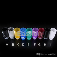 Wholesale NEW Acrylic Muffler Drip Tip Wide Bore Drip Tips Acrylic Mouthpiece for EGO CE4 CE6 Vivi Nova EVOD E Cig Tanks