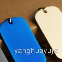 Wholesale 100 Gold Blue Rose gold Black color Stainless Steel Army Dog Tags Men Boy Fashion Pendants
