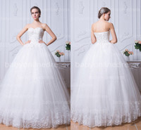 Wholesale Autumn white beads bodice wedding dresses spring sweetheart lace A line corset back wedding gowns low price under BZP0383 vestidos