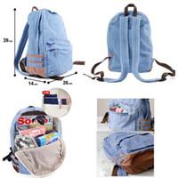 Wholesale Cute Vintage Denim Satchel Backpack Rucksack Shoulder leisure Travel School Bag hot