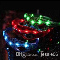Wholesale LED Spiderman Glasses Flashing Glasses Light Party Glow spider man Glowing glasses mask Christmas Halloween